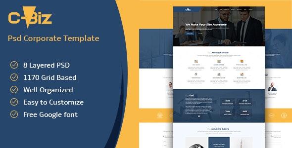 C-Biz: Corporate PSD template - Corporate Photoshop