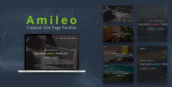 Amileo - Creative One Page Parallax - Creative Site Templates