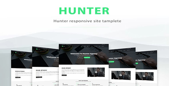 Hunter-One Page Resonsive Template - Site Templates