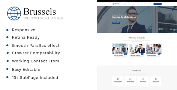 Brussels - Business Consulting and Professional Services HTML Template - Business Corporate