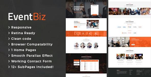 EventBiz - Conference & Event HTML Template - Events Entertainment