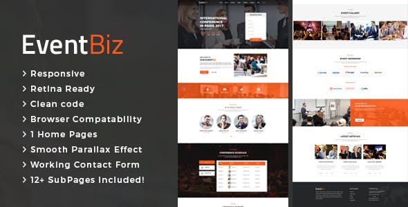 EventBiz - Conference & Event HTML Template