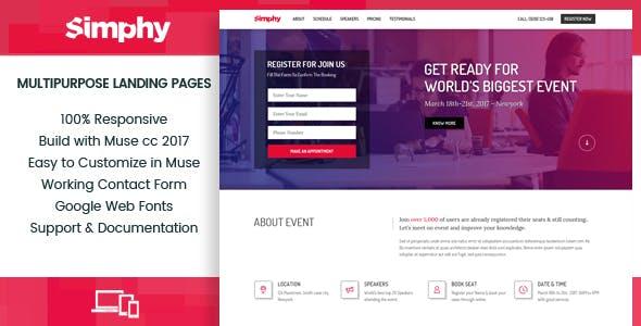 Download Simphy- Multipurpose Muse Landing Templates