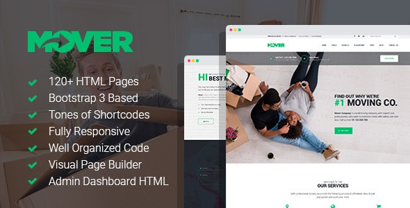 Mover - Local Moving & Storage Company Template with Page Builder - Business Corporate