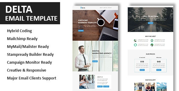 Delta - Multipurpose Responsive Email Template With Online StampReady Builder Access - Newsletters Email Templates