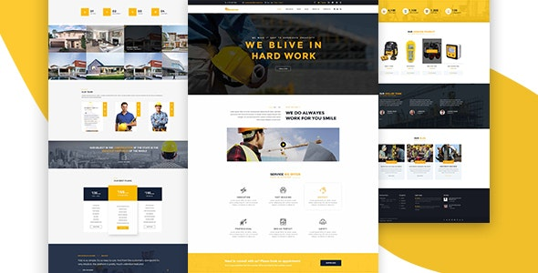 Crescent - construction PSD template - Business Corporate