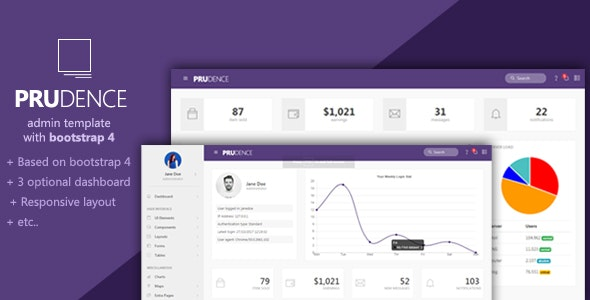 Prudence - Bootstrap Admin Template - Admin Templates Site Templates