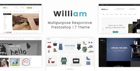 William - Responsive eCommerce Prestashop 1.7 Template - Shopping PrestaShop
