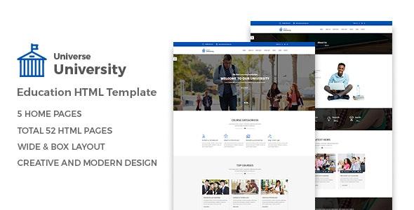 Universe - Education HTML Template - Charity Nonprofit
