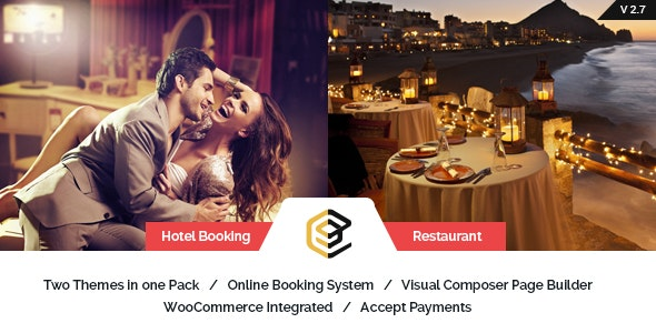 Restaurant and Hotel WordPress Theme - Pearl by BrighThemes