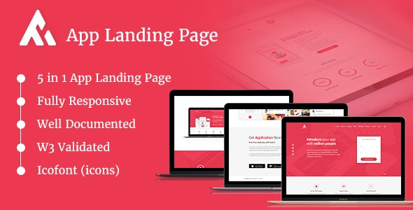 AppRaxx - 5 in 1 App Landing Page - Software Technology