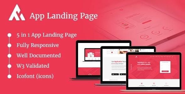 AppRaxx - 5 in 1 App Landing Page