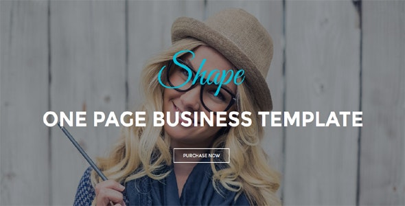 Shape - One Page Business Template - Technology Site Templates