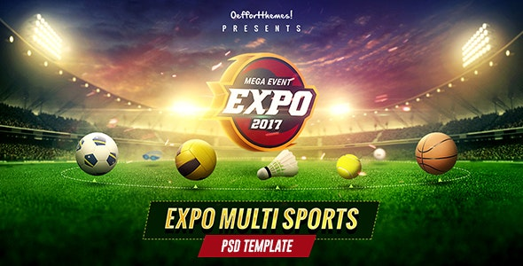 Expo - Multi Sports Event PSD Template - Events Entertainment