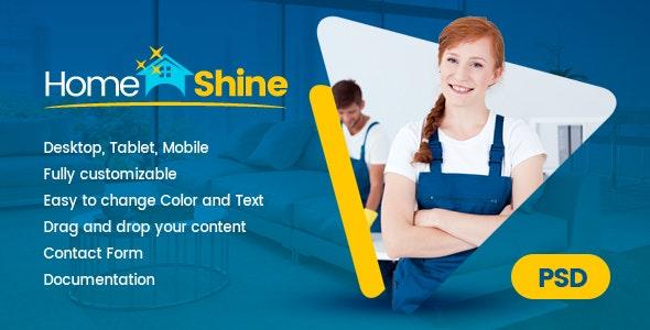 HomeShine - Multi Purpose PSD Template - Corporate Photoshop