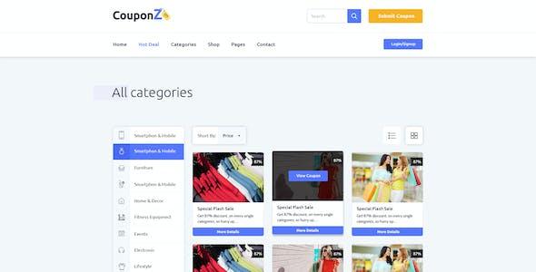 CouponZ - Deals & Coupon PSD Template