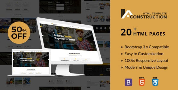 Gravity Construction - Responsive Html5 Template - Business Corporate