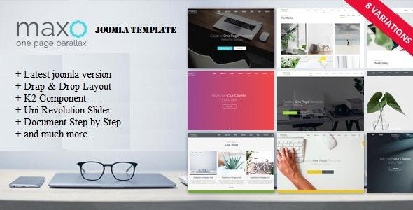 Maxo - One Page Parallax Joomla Template - Creative Joomla