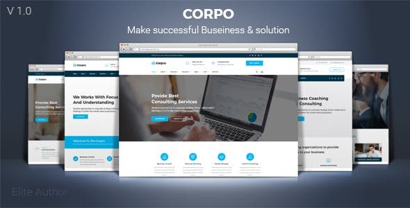 Corpro - Business Consulting and Professional Services HTML Template