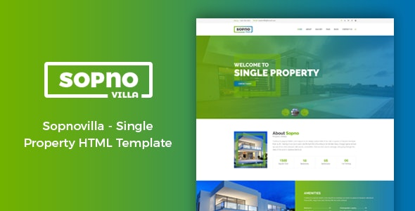 Sopnovilla - Single Property Real Estate Template - Business Corporate