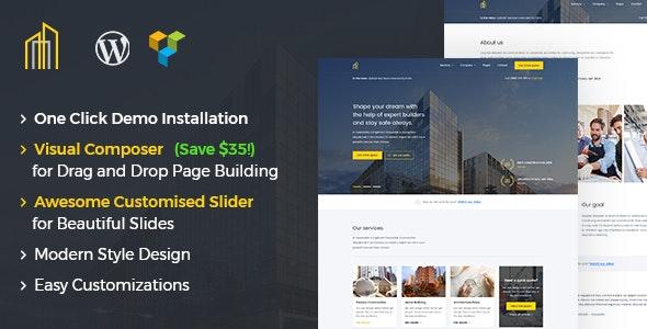 GrayHouse - Modern Construction WordPress Theme - Real Estate WordPress