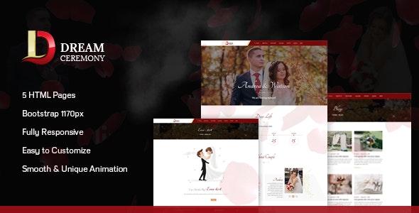 Dream Ceremony - Wedding HTML Template - Events Entertainment