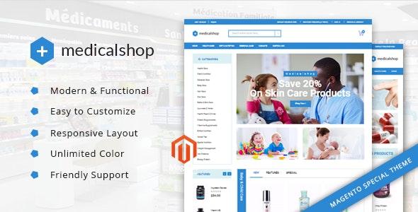 MedicalShop - Pharmacy and Drug Store Magento Responsive Theme - Health & Beauty Magento