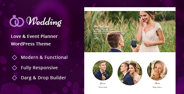 Wedding - Engagement & Marriage Planner WordPress Theme - Wedding WordPress