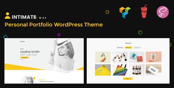 Intimate - Minimal Portfolio WordPress Theme - Portfolio Creative