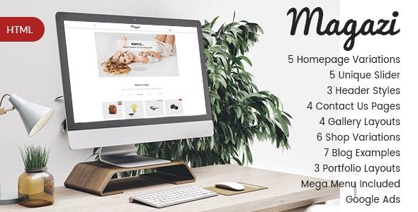 Magazi - Multipurpose e-Commerce HTML Template - Shopping Retail
