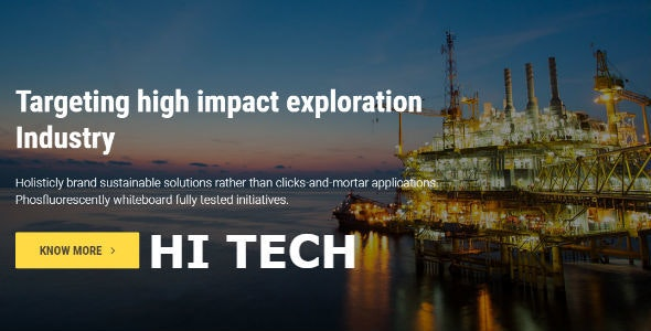 Hi-Tech | Responsive HTML Template - Site Templates