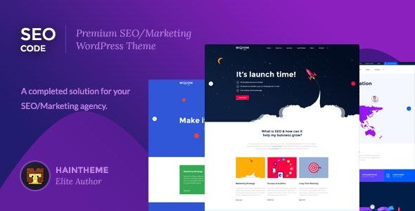 SeoCode - Responsive Online Marketing WordPress Theme - Marketing Corporate