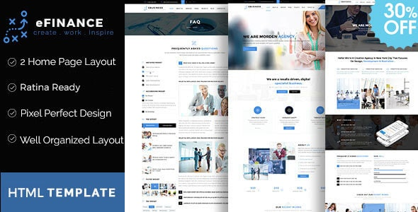 eFinance - Business and Finance HTML Template - Corporate Site Templates