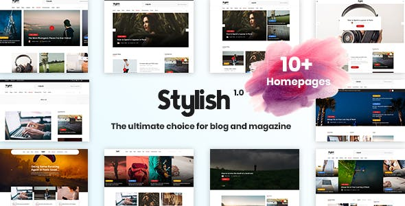 Stylish  - Minimal Blog Template