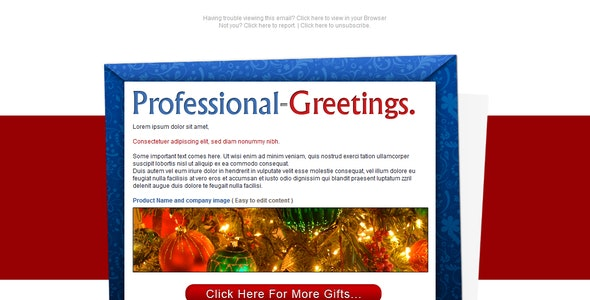 Professional Greetings - Newsletter - Email  - Newsletters Email Templates
