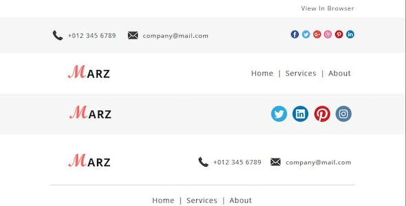 Marz - Multipurpose Responsive Email Template With StampReady Builder Access