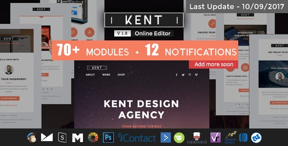 Kent - Responsive Email Set - Newsletters Email Templates