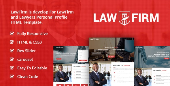 LawFirm - Lawyers Html Template - Business Corporate