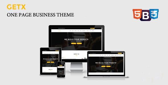 GetX - Onepage Business WordPress Theme - Business Corporate