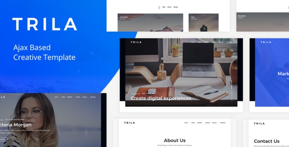Trila - Ajax Based Creative Template - Creative Site Templates