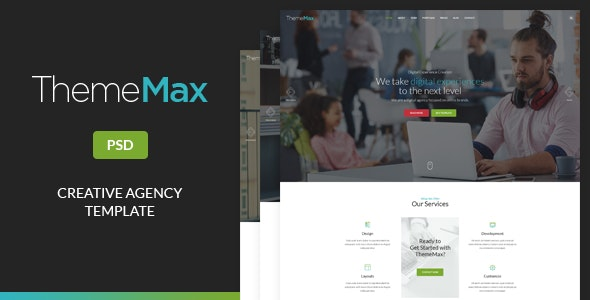 ThemeMax - Creative Agency PSD Template - Creative Photoshop