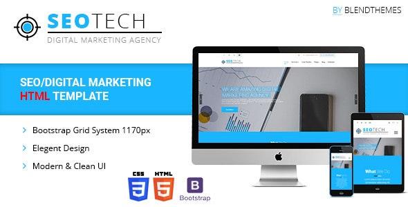 SEOTECH - SEO / Digital Marketing HTML Template - Corporate Site Templates