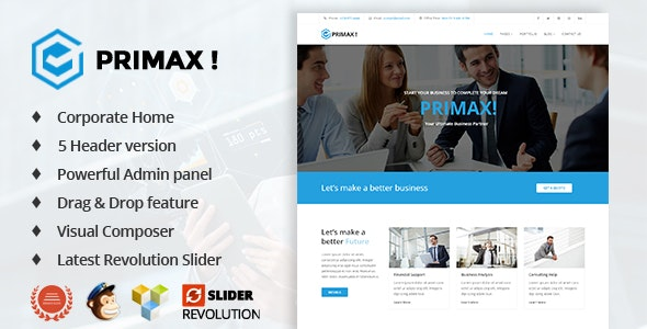Primax Corporate Business WordPress Theme - Business Corporate