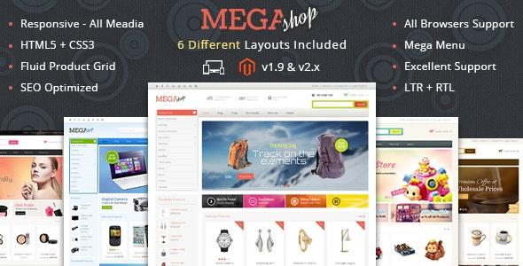 Mega Shop - Responsive Magento 1 & 2 Theme - Shopping Magento