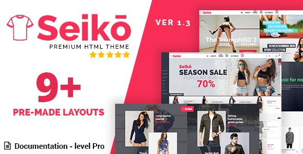 Seiko - eCommerce HTML Template - Fashion Retail