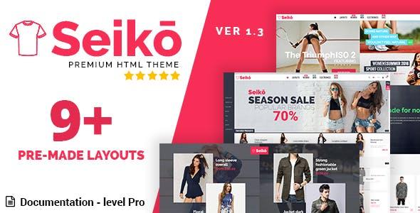 Seiko - eCommerce HTML Template