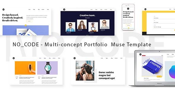 No_code - Creative Agency Portfolio Muse Template - Creative Muse Templates