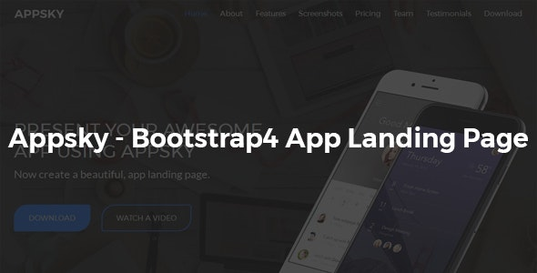 Appsky -Bootstrap4 App Landing Page - Technology Landing Pages