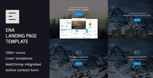 Ena - HTML Landing Page Template - Corporate Site Templates