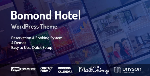 Bomond Hotel WordPress Theme - Travel Retail